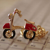 vintage scooter shaped keychain,retro scooter key ring,CUTE key chain,red color
