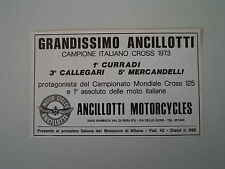 advertising Pubblicità 1973 MOTO ANCILLOTTI MOTORCYCLES