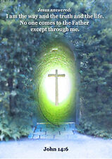 CHRISTIAN POSTER JOHN 14:6 I AM THE WAY AND THE TRUTH ... Quality Heavyweight A4
