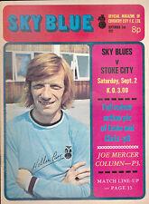 Coventry City FC Sky Blue v Stoke City  September 2 1972 Eric Machin Cattlin