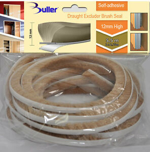5.5m Beige Seal Brush Pile Draught And Dust Excluder Self Adhesive 12mm For Door