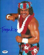 Tonga Kid Tama Signed 8x10 Photo PSA/DNA COA WWE The Islanders Picture Autograph