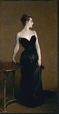 John Singer Sargent, Portrait of Madame X, dress, antique ART,1883, 20x10 Canvas