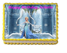 Frozen Elsa Birthday Party Edible Cake Topper 1/4 Frosting Icing sheet