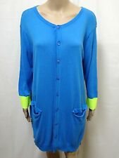 SCANLAN THEODORE CARDIGAN WOMENS - SIZE SMALL - EXC COND DRESS LENGTH BUTTONED