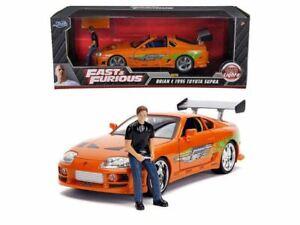 1:18 Brian's Toyota Supra w/Figurine -- Fast & Furious JADA