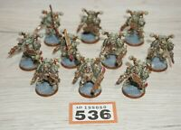 Warhammer 40k Forgeworld Nurgle Death Guard Plague Marines x 10 LOT 536