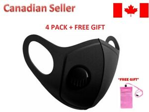[8-Pack] - Reusable Washable Face Mask with Breathing Valve Unisex FREE GIFT