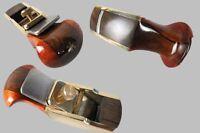 "1pcs convex bottom brass wrap blackwood planes 2 3/8"" woodworking tool #8668"
