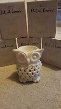 White Owl Ceramic Oil Burner Tea Light Candle Tart Wax Melt Aromatherapy