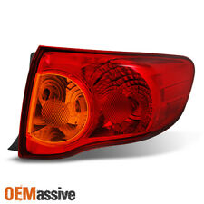 Fits 2009 2010 Toyota Corolla Passenger Right Side Outer Piece Tail Light Set