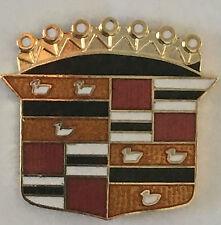 Cadillac Shield  logo  -- Large Vintage -- lapel / hat pin badge.    H020304