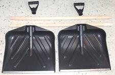 2x  HOLZ - Schneeschieber Standard Schneeschaufel Schneeräumer mit Stahlkante