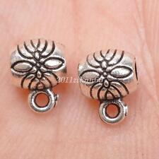 50pcs Tibetan Silver Connectors Bails charm bail DIY bracelet 6x8mm B3016