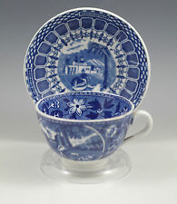 ANTIQUE LAMBERT MAASTRICHT FLOW BLUE CHOCOLATE CUP AND SAUCER, COUPLE