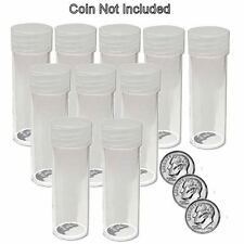 Round Dime Coin Tubes 18mm by BCW 10 pack