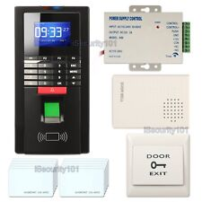 Realand MF131 Fingerprint Access Control System RFID Card + Exit Button Doorbell