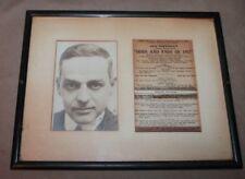 ORIGINAL PHOTO SIGNED JACK NORWORTH & CAST LIST FOR ODDS & ENDS OF 1917