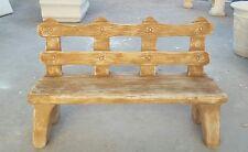 Panchina panca seduta arredo giardino da  esterno  in cemento  effetto legno