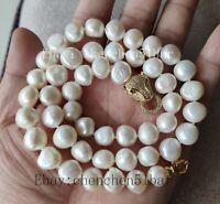 Echte kultivierte 10-1-11.5mm barocke Süßwasserperle Halskette 20 Zoll