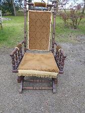 Victorian Walnut American Rocking Chair