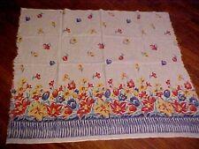 Vintage Colorful Borderprint Feedsack w/ Tulips & Lilies 71791
