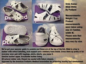 Pediped Grip 'n' Go Nikki V Leather Sandal Size 21, 22 /US Toddler Size 5.5, 6.5
