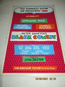 WINDOW CARD-BLACK COMEDY BYPETER SHAFFER-GERALDINE PAGE-MICHAEL CRAWFORD-DON MA