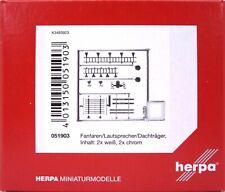 HERPA Zubehör 1:87/H0 Fanfaren / Lautsprecher / Dachträger chrom/weiß #051903