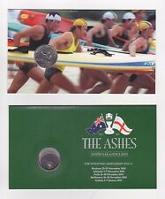 2007 CARDED 20c COIN SURF LIFESAVER & AUSTRALIAN ASHES 10 /11 CRICKET 20c COIN