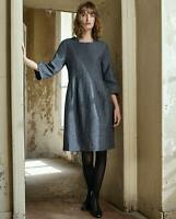 POETRY LINEN WOOL DRESS UK 22 CURVE FIT RRP£169 BNWT RELAXED FIt DARK GREY