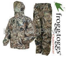 FROGG TOGGS RAIN GEAR-AS1310-56 ALL SPORT MAX-5 HD CAMO MENS SUIT DUCK HUNTING
