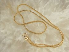 Vintage Estate 14K Yellow Gold RVL Serpentine Snake Link Chain Necklace 18""