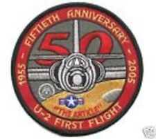 LOCKHEED U-2 CIA HIGH ALTITUDE SPY PLANE DRAGON LADY 50TH ANNIVERSARY U-2 PATCH
