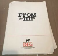 1987 FROM THE HIP Judd Nelson Screenplay/Movie Production Note Pamphlet Binder