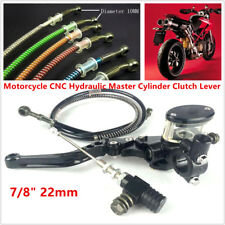 22mm Motorcycle Hydraulic Clutch Lever Master Cylinder Oil Hose Kit Universal