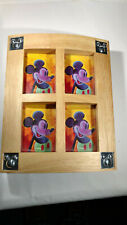 Mickey Mouse Disney Jewelry/Trinket Wooden Box Sliding Lid Pre-Owned