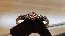 Solid 10kt Tri-Color Gold BLACK HILLS GOLD STYLE Ring Size 7