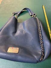 Bebe Purse Handbag Blue Leather Preowned