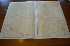 Large Format 1924 Map Of Tennessee - Railroads Keyed In Red & Labelled