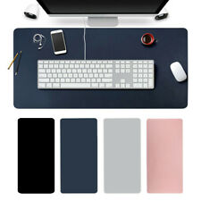 More details for uk large leather computer desk mat table keyboard mouse pad laptop cushion