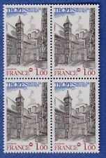 U49* Timbres France Neuf**MNH TBE Bloc de 4 (1978 n°2011) TROYES