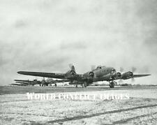 USAAF WW2 B-17 Bombers Max Effort Take Off 8x10 Photo 92nd BG WWII