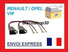 Vauxhall Opel Astra 91 - 98 Speaker Adaptor Plug Leads Cable Connectors Pair