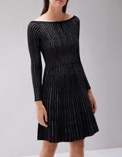 Bnwt🌹Coast🌹Size 16 Black Jassy Lurex Knit Dress Evening Cocktail Party New
