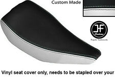WHITE & BLACK VINYL CUSTOM FITS HONDA TLR 200 TRIAL BIKE SINGLE SEAT COVER ONLY