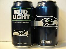 2016 Bud Light Beer ~ Seattle Seahawks Nfl Football ~ Kickoff Fan Can 12oz