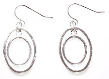 Minimalist & Chic Inspired - Dual Chrome Oval & Metal Hook Earrings (Zx296)