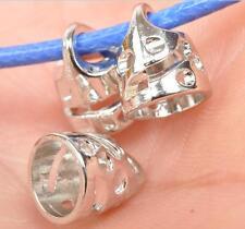Wholesale 30pcs Tibet silver hollow  end caps fit necklace  Pendant