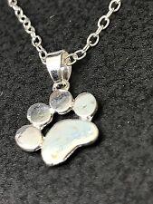 "Dog Paw Silver Plated Charm Tibetan Silver 18"" Necklace BIN"